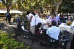 Desmayan estudiantes en ceremonia a símbolos patrios