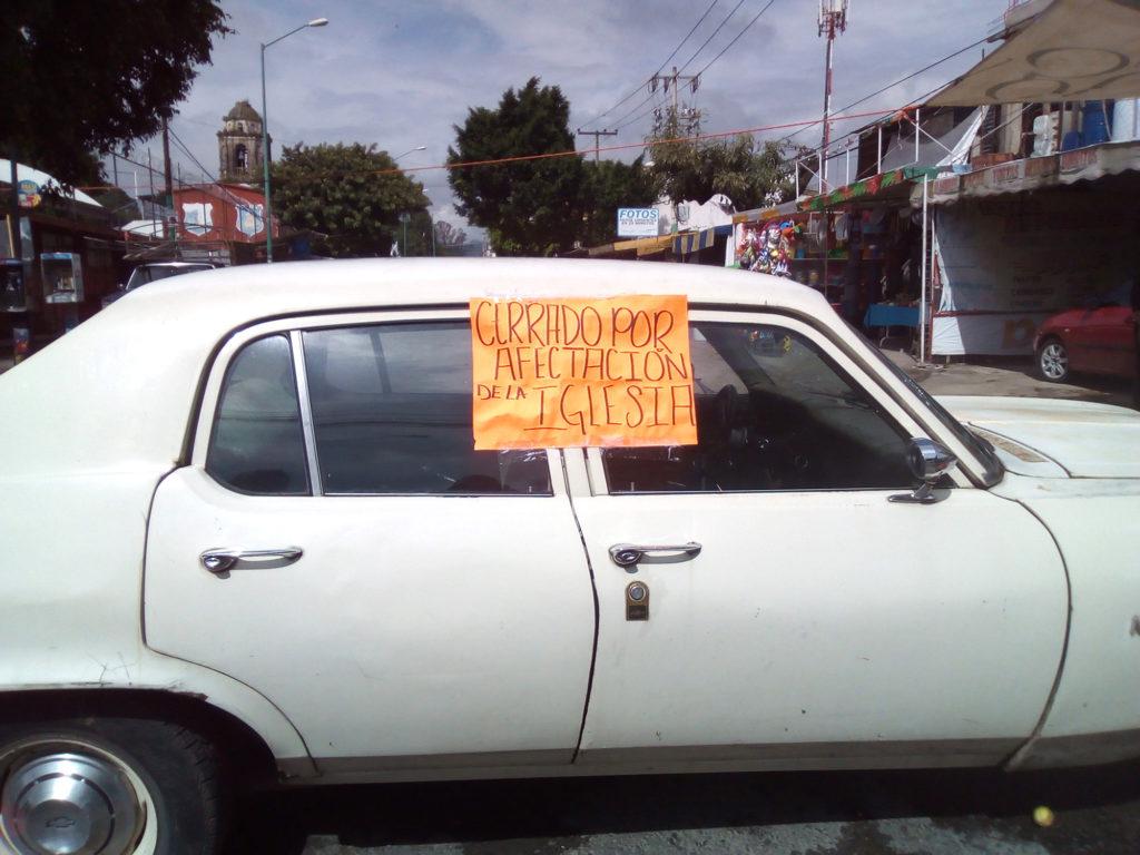 Cierran calles de Ocotepec por edificios peligroso…