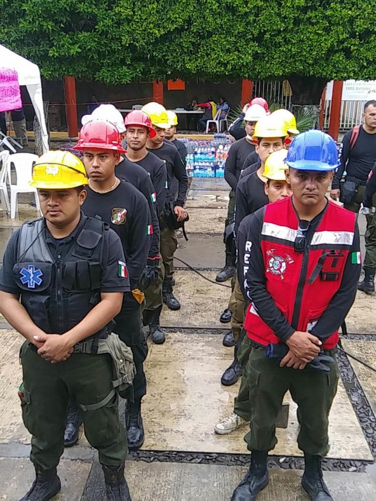 Rescatistas de Guadalajara apoyan en Jiutepec
